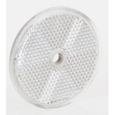 Светоотражатель Fristom белый 60 мм с отверстием DOB-033 B