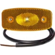 Боковой оранжевый контурно-габаритный фонарь Proplast LED с отражателем 10492